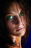dzika portret kobieta Fotografia Royalty Free