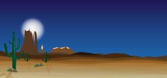 Dzika pustynna scena Zdjęcia Stock