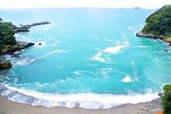Dzika włoch plaża zdjęcie stock