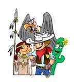Dzika zachodnia ilustracja Obraz Royalty Free