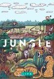 Dziki życie w dżungli royalty ilustracja