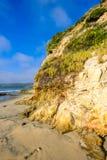 Dziki brzeg w Kalifornia na pogodnym letnim dniu Obrazy Royalty Free