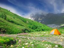 Dziki camping w Gruzja zdjęcie stock