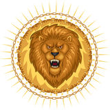 dziki emblemata lew Obraz Stock