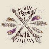 Dziki i Bezpłatny plakat ilustracji