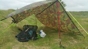 Dziki obóz pod tatp Zdjęcie Stock
