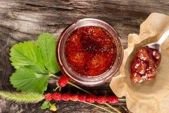 Dziki truskawkowy dżem Obraz Stock