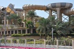 Dziki wadi wody park w Dubaj Obrazy Stock