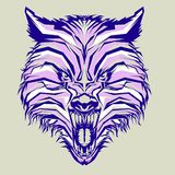dziki wilk w wystrza? sztuce ilustracja wektor