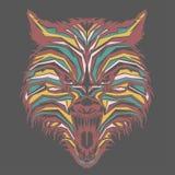 dziki wilk w wystrza? sztuce ilustracji