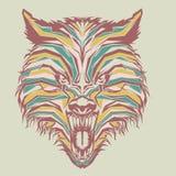 dziki wilk w wystrza? sztuce royalty ilustracja