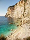 Dziki wybrzeże - Paxos wyspa, podróż Grecja Fotografia Stock