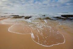 Dziki wybrzeże wzdłuż Ogrodowej trasy, Południowa Afryka Fotografia Royalty Free