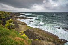 Dziki zachodnie wybrzeże Irlandia fotografia stock