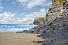 Dzikie atlantyckie falezy Ireland Fotografia Stock
