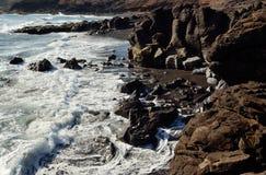 Dzikie plaże, wyspy kanaryjska obrazy stock