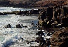 Dzikie plaże, wyspy kanaryjska Zdjęcie Stock