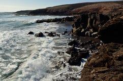 Dzikie plaże, wyspy kanaryjska Obraz Stock