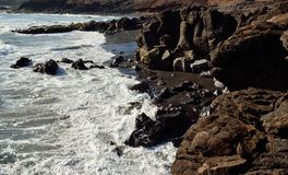 Dzikie plaże, wyspy kanaryjska Obraz Royalty Free