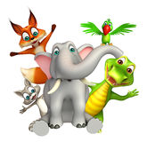Dzikie Zwierzę kolekcja obrazy royalty free