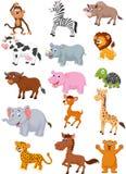 Dzikie zwierzę kreskówki kolekcja ilustracja wektor