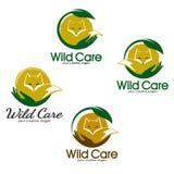 Dzikie zwierzę opieki loga pojęcie również zwrócić corel ilustracji wektora Obraz Royalty Free