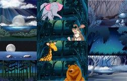 Dzikie zwierzęta w lesie royalty ilustracja