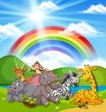 Dzikie zwierzęta w naturze ilustracja wektor