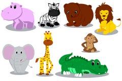 dzikie zwierzęce kreskówki Zdjęcie Royalty Free