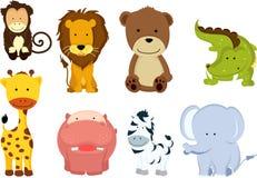 dzikie zwierzęce kreskówki Zdjęcia Stock