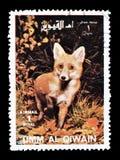 Dzikie zwierz?ta na znaczkach pocztowych obrazy stock