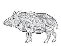Dzikiego knura kolorystyki wektor dla dorosłych ilustracji