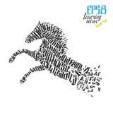 Dzikiego konia literowania plakata wektor Fotografia Stock