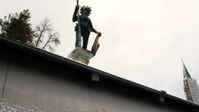 Dzikiego mężczyzna statuy punkt zwrotny Salzburg na Austria zbiory