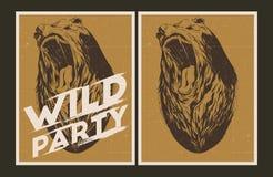 Dzikiego przyjęcia zaproszenia szablon ilustracji