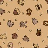 Dzikiego zwierzęcia bezszwowy deseniowy tło Tkanina dla dziecka zwierzęcia domowego Wektorowa natura Dzieciaka dosypiania projekt Zdjęcie Royalty Free