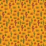 Dzikiej natury pustyni bezszwowy wzór royalty ilustracja