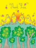 Dziękuje Ciebie Ptasiego Obrazy Royalty Free