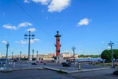 Dziobowe kolumny w St Petersburg Obrazy Stock