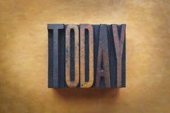 Dzisiaj fotografia stock