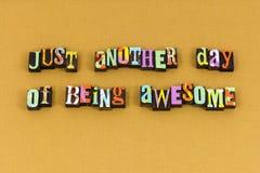 Dzisiaj dnia sukcesu celu wspaniała typografia obraz stock