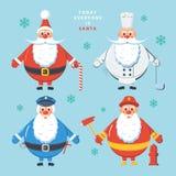 Dzisiaj jest Santa everyone kolor plażowej dziewczyny ilustracyjny magazyn czyta sandy wektora Obrazy Royalty Free