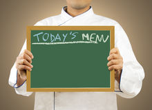 DZISIAJ ' S menu Zdjęcie Royalty Free