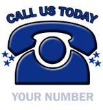 dzisiaj wywoławczy telefon Zdjęcie Royalty Free