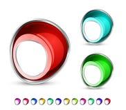 dziur kolorowe glansowane ikony Ilustracja Wektor