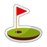 Dziura golf z flaga ilustracja wektor