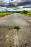 Dziura na halnej autostradzie Obrazy Royalty Free
