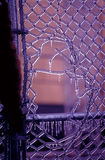 dziura płotowa lodowata Obraz Royalty Free