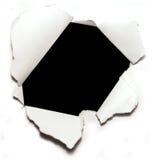 dziura papier Obraz Stock