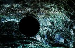 Dziura po kuli okno Obrazy Stock